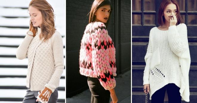 Модные вязаные кофты – новинки последнего сезона для самых стильных осенне-зимних образов