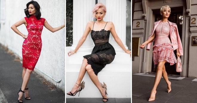 Гипюровые платья – более 50 фото стильных моделей на любой вкус