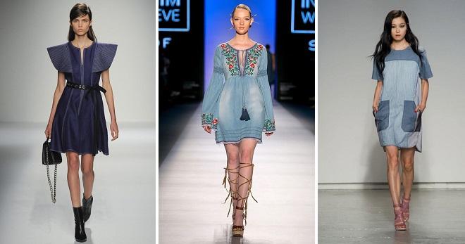 Джинсовое платье – более 60 фото самых модных моделей и образов