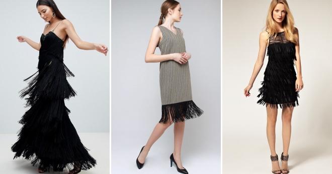 Платье с бахромой – 48 фото самых модных моделей на любой вкус
