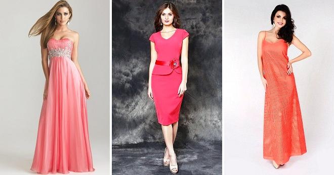 14bde3e015c1604 Коралловое платье – с чем сочетать и как подобрать макияж, прическу,  аксессуары?