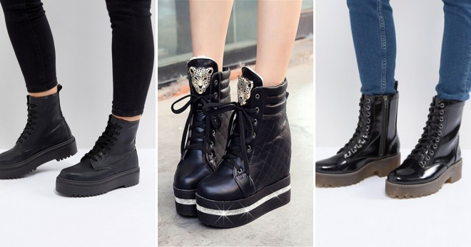 056f9763 Женские ботинки на толстой подошве – модная обувь для повседневной носки