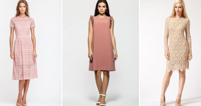 Пудровое платье – нежный и стильный предмет одежды на все случаи жизни