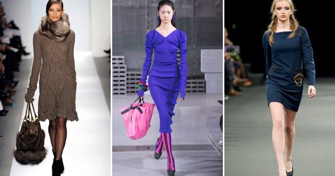 Шерстяное платье – топ-45 классических и casual моделей для модниц