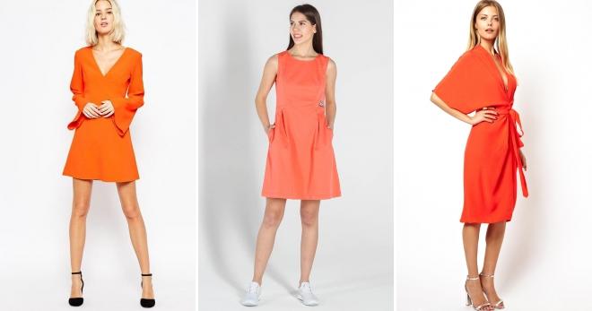 Оранжевое платье – 44 фото-идеи, как выглядеть ярко и стильно!