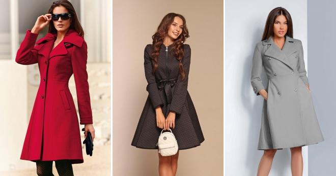 Расклешенное пальто – 85 фото модных моделей и городских образов