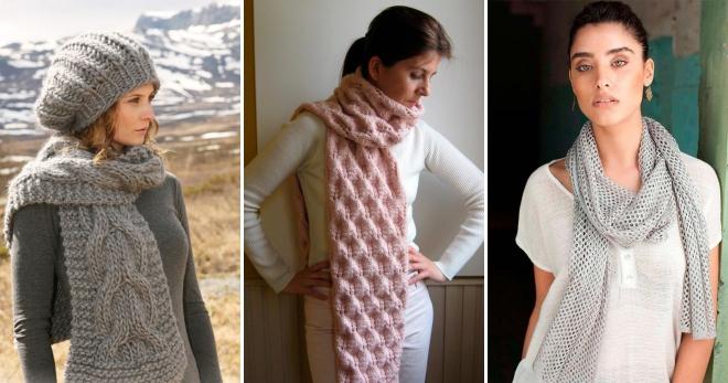 Модные вязаные шарфы – стильный аксессуар для холодной погоды