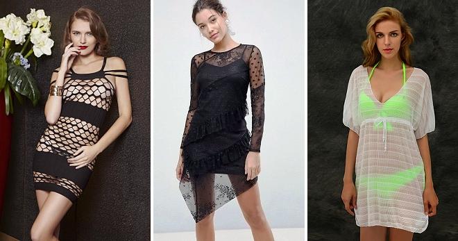 Платье-сетка – модный и смелый предмет одежды для особых случаев 66c505a0899