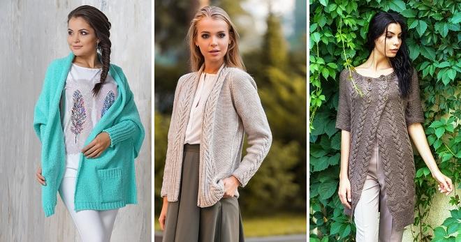 Вязаный кардиган – модный и элегантный предмет одежды для осенне-зимнего периода