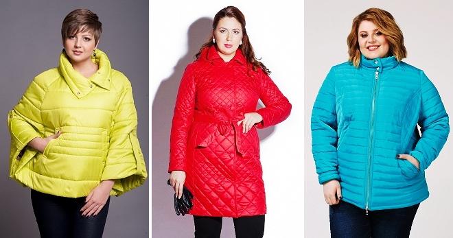 3faa98b322ec Модные куртки для полных – зимние, демисезонные, кожаные, пальто ...
