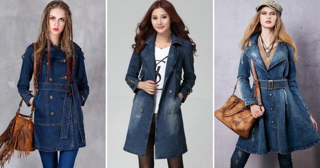 Женское джинсовое пальто – модный предмет верхнего гардероба 2019