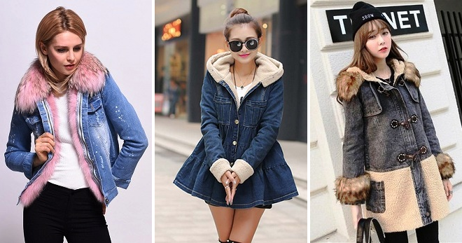 Kvinner denim jakke med pels - 36 bilder av de mest relevante modellene av sesongen