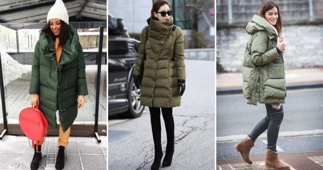 Hva skal du ha med en grønn dunjakke - hvordan velge riktig sko, skjerf, lue, veske?