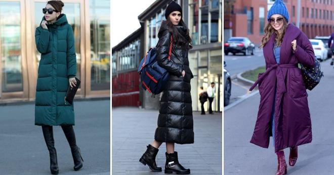 C чем носить длинный пуховик – правила составления модного зимнего образа
