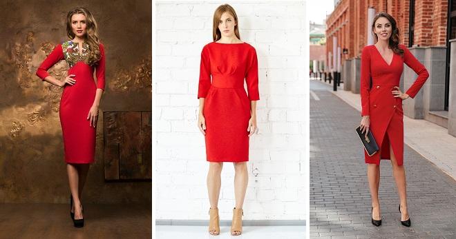 ef26c7a40fb767 Rode dress-case - 60 foto s van de meest modieuze modellen voor alle  gelegenheden