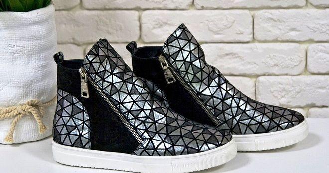 f505c6f6 Модные женские хайтопы – кроссовки, на платформе, липучках, кожаные ...