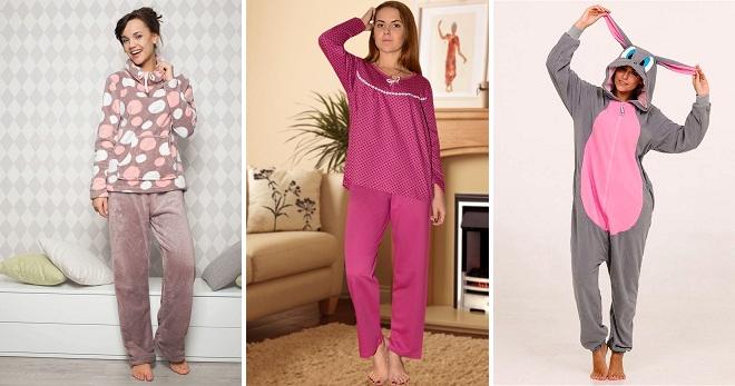 545cddad0789 Женская теплая пижама – 30 самых популярных видов для комфортного сна и  отдыха