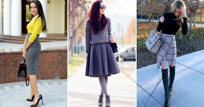 3fcf260adcf С чем носить серую юбку – 40 лучших сочетаний для городских модниц