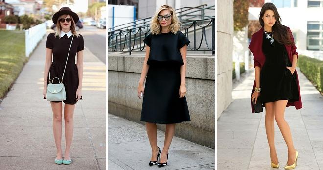 3a0f41f106d С чем носить черное платье – топ-40 самых модных идей