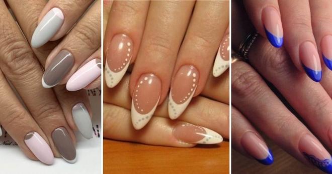 Френч на миндалевидных ногтях – идеи дизайна на все случаи жизни
