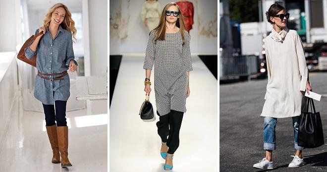Uz ono što nositi haljinu tunika - ideje o modernim slikama za bilo koju sezonu