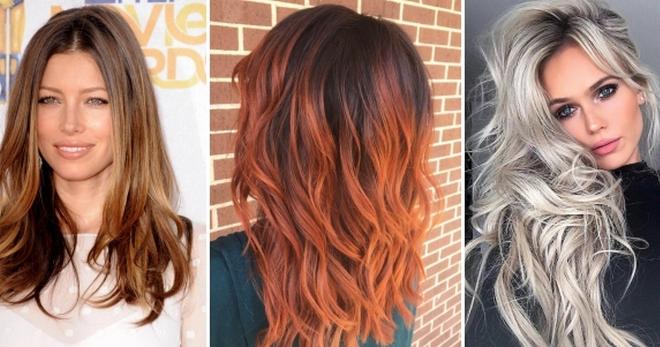 Модное окрашивание на длинные, средние и короткие волосы 2019 изоражения