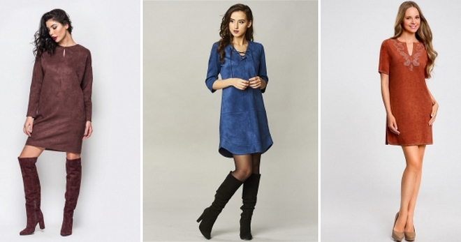 d17843b2646 Платье из замши – 50 фото самых модных моделей для девушек и женщин