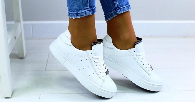 b92915a1 Женские белые кеды – кожаные, высокие, на платформе, липучках ...