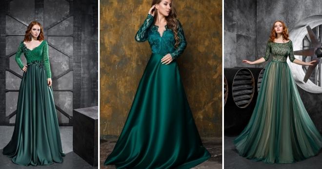 a835c38883b Изумрудное платье – 90 фото модных моделей на каждый день и для особых  случаев