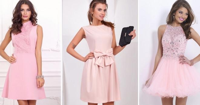 ed65434d800a5a8 Нежно-розовое платье – обзор самых модных моделей для девушек и женщин