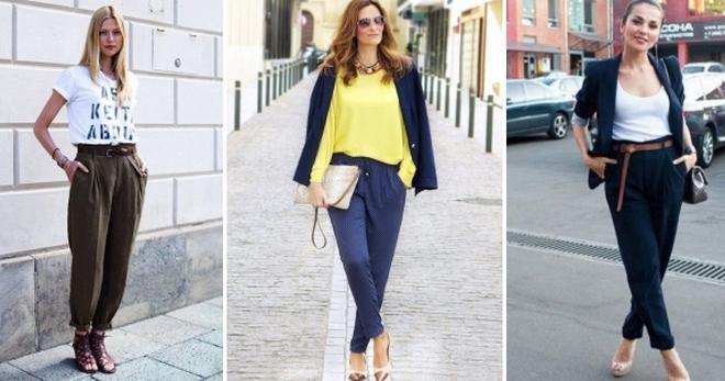 Женские брюки бананы с чем носить