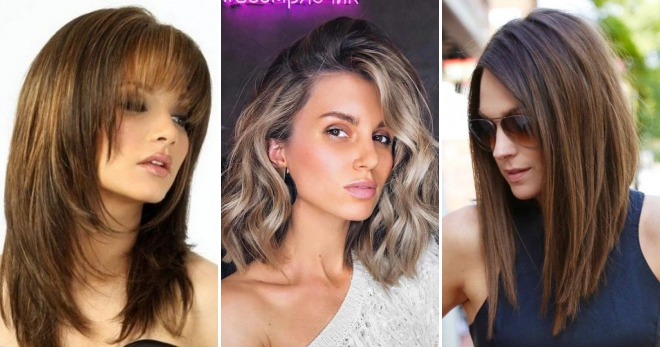 c590a0b4cd1 Женские стрижки на средние волосы 2019 – главные идеи и тренды сезона