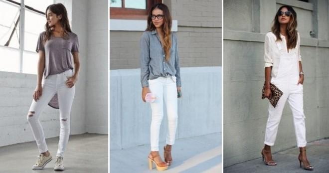 С чем носить белые джинсы – идеи для модных городских луков
