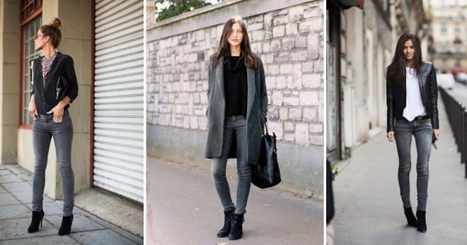 С чем носить серые джинсы – модные советы по подбору обуви, верха и аксессуаров