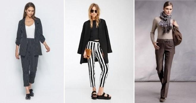 da0b1eaef1ee Женские брюки в полоску – классические, с завышенной талией, черно ...