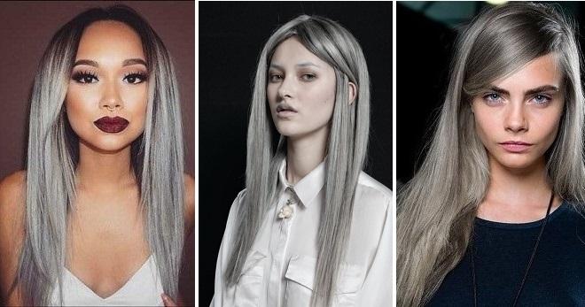 Серый цвет волос – модный тренд этого сезона