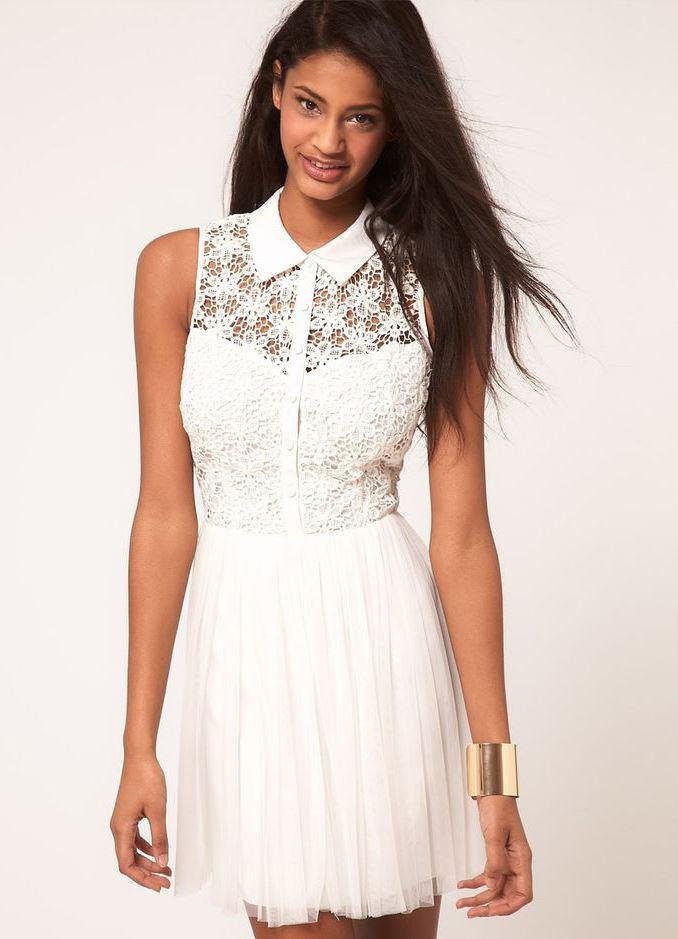 12c1785da3b Белые платья из хлопка с кружевом