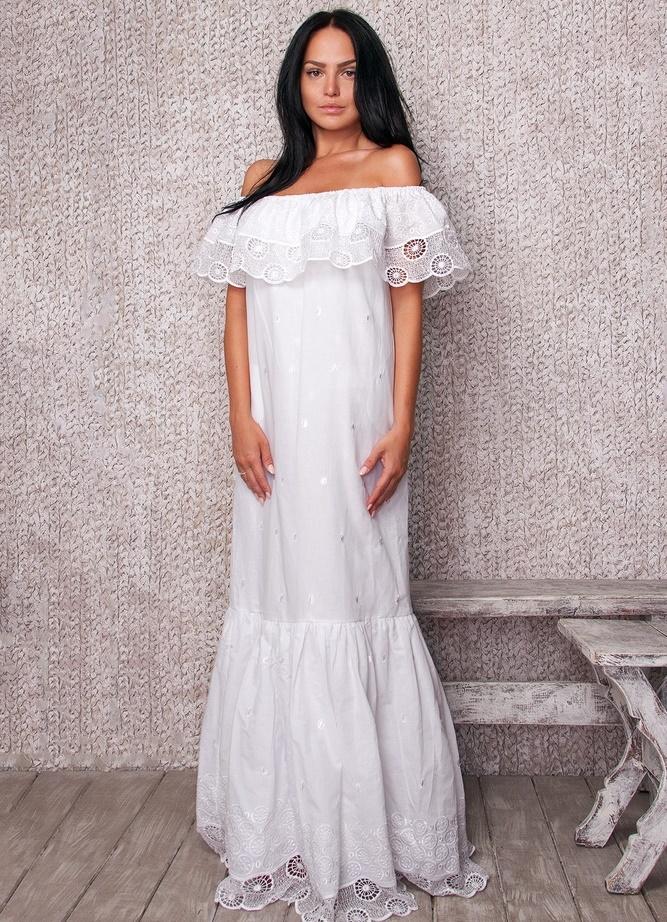 ebc11f78248 белые платья из хлопка с кружевом 5