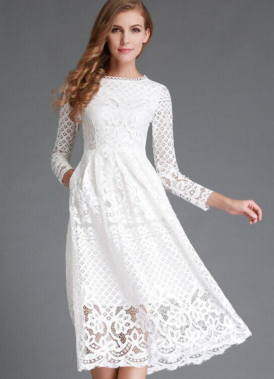 930d4a83684 белые платья из хлопка с кружевом 8