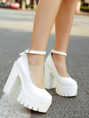 386ecdc07 Белые туфли на платформе