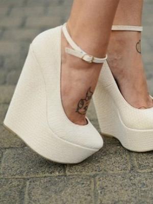 296b52dfd ... Белые туфли на платформе 2 ...