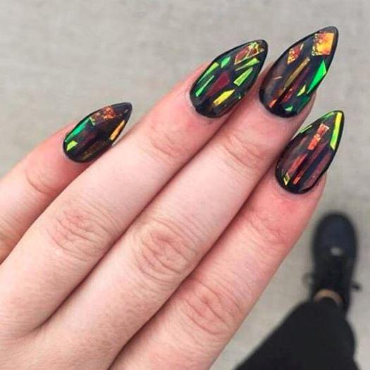 битое стекло ногти картинки