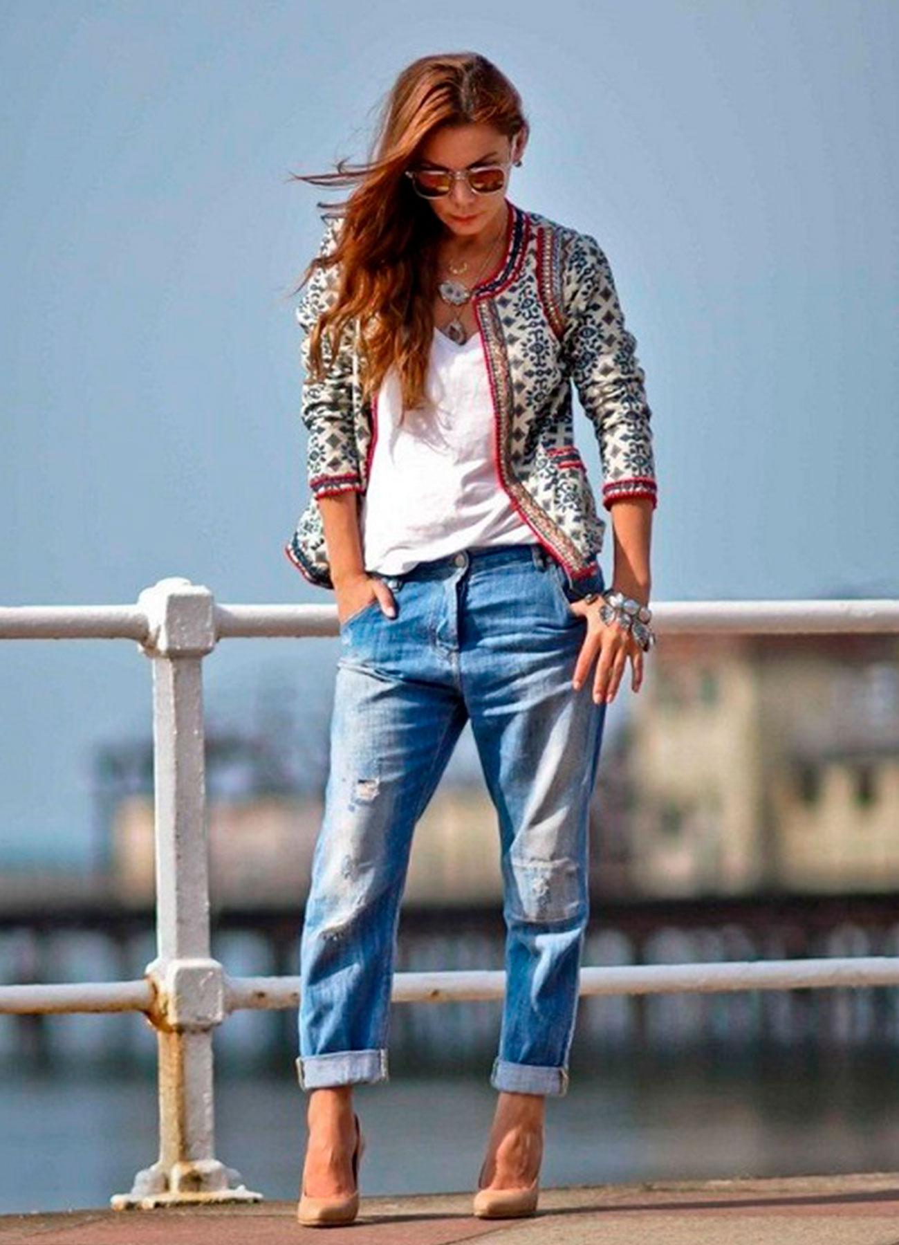 Картинки с чем носить джинсы