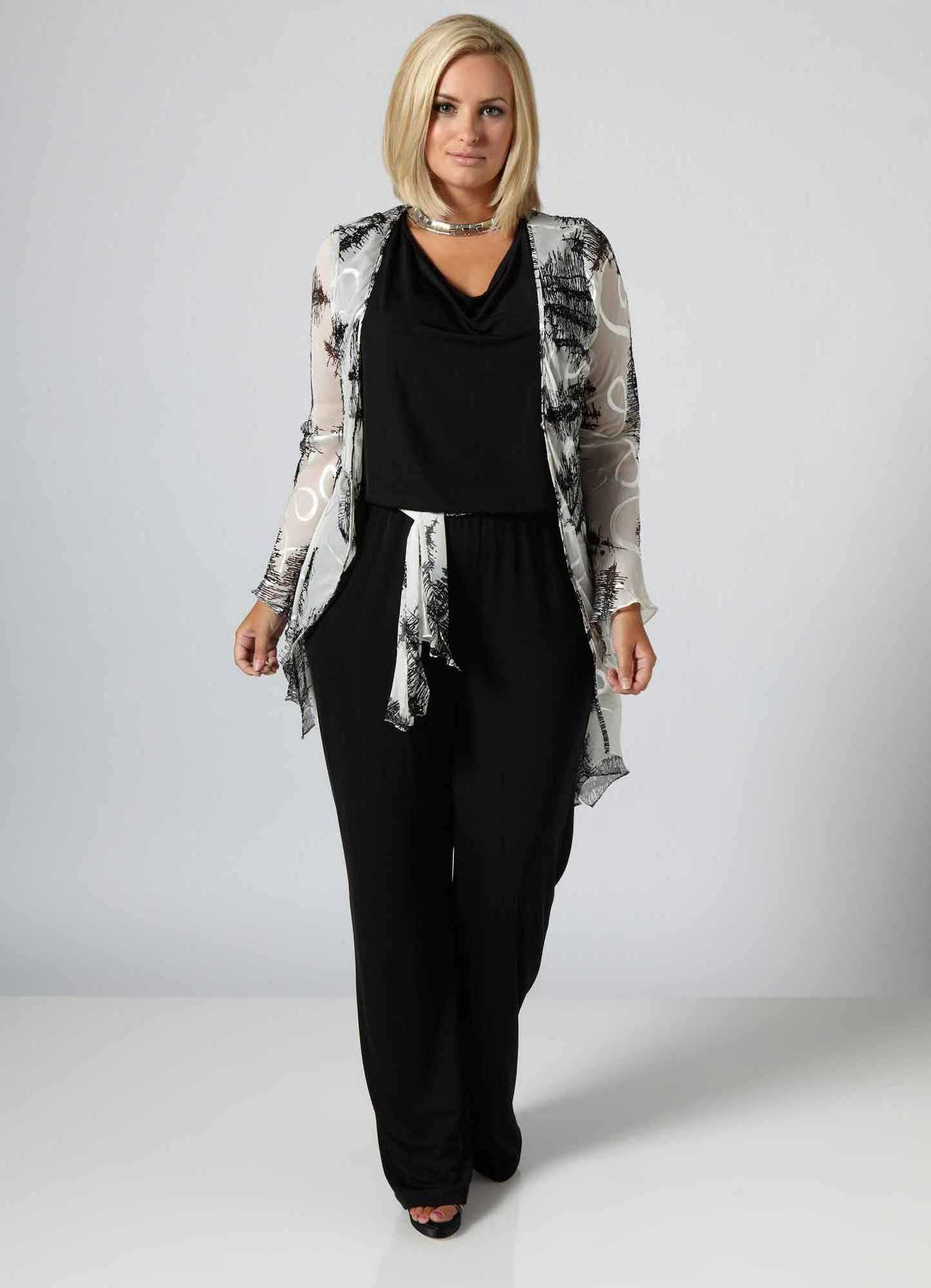 5d49b3edf5d Летние брючные костюмы для полных женщин