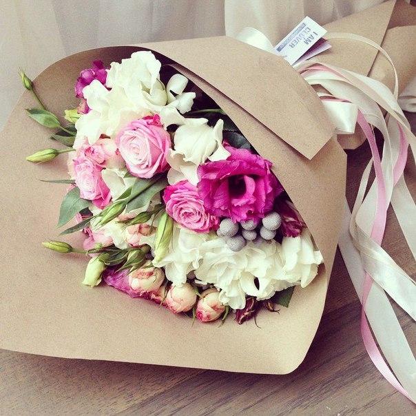 стильные букеты цветов фото