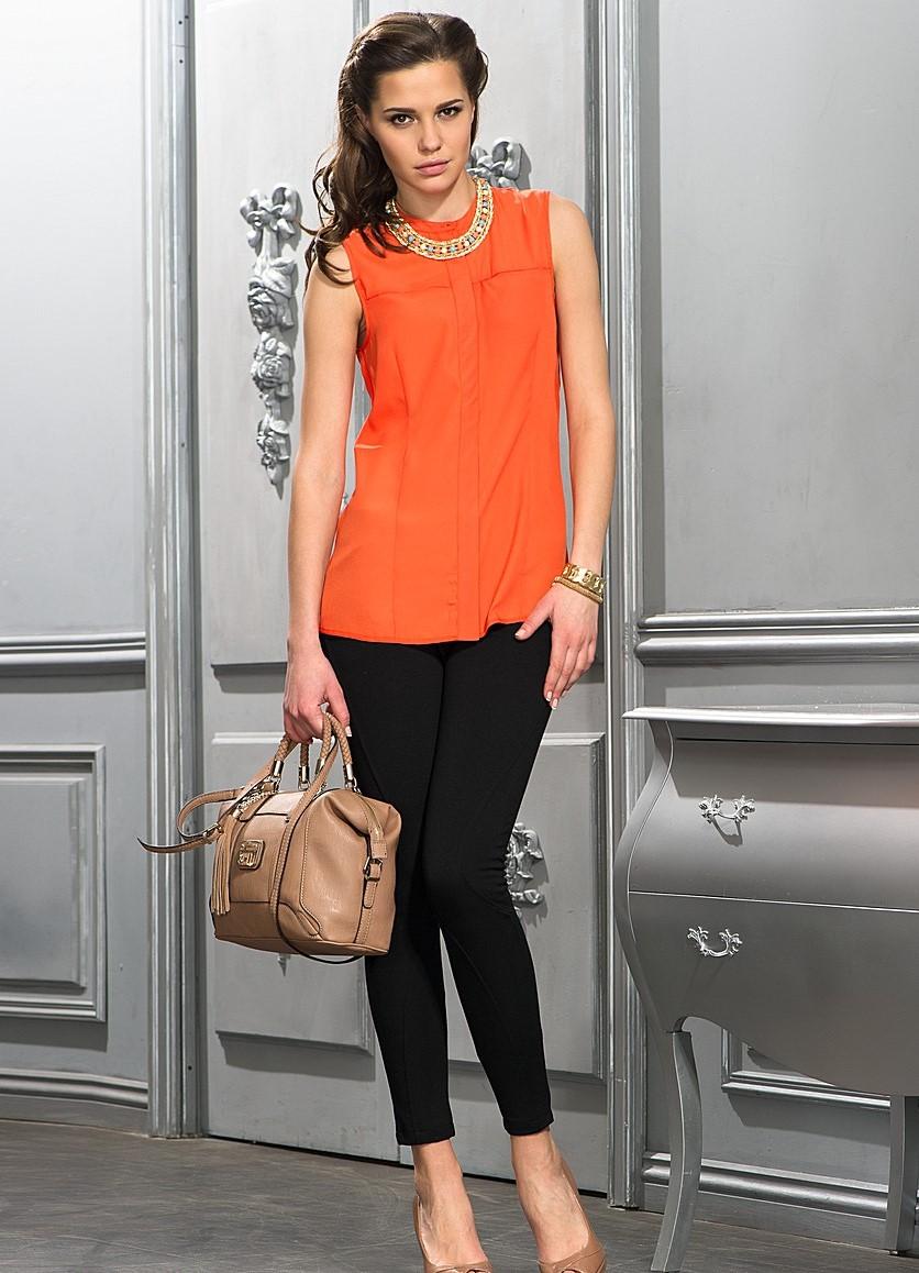 с чем одеть оранжевую блузку фото подтверждаем