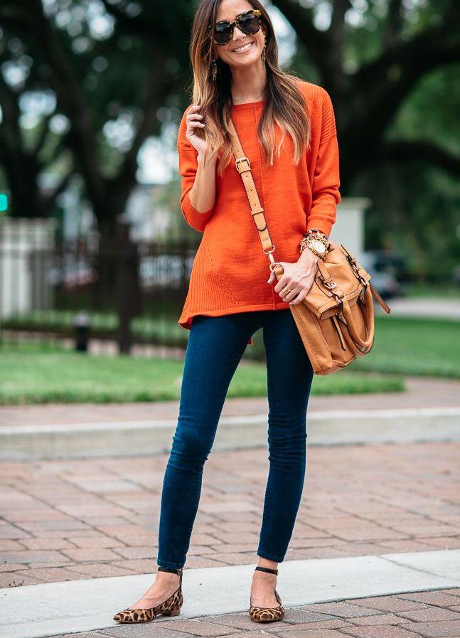 настроение будущей с чем одеть оранжевую блузку фото отделочный материал