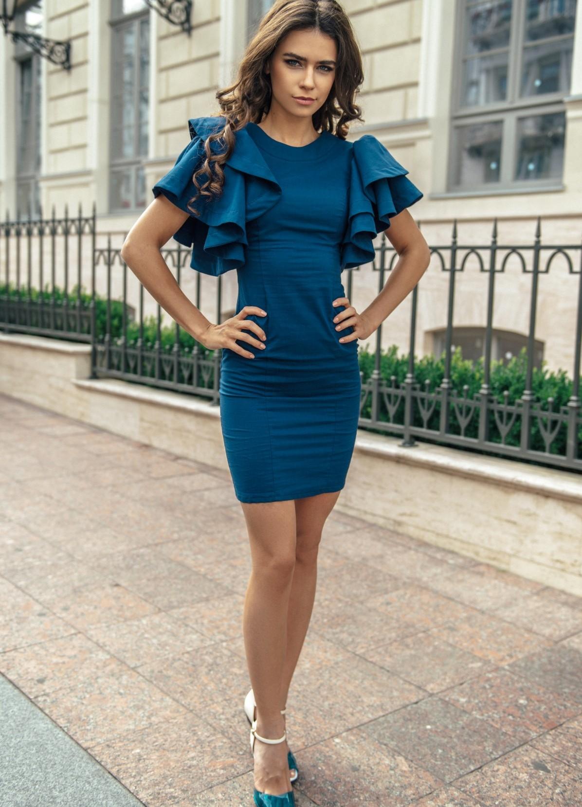них фото с синим платьем готовых проектов