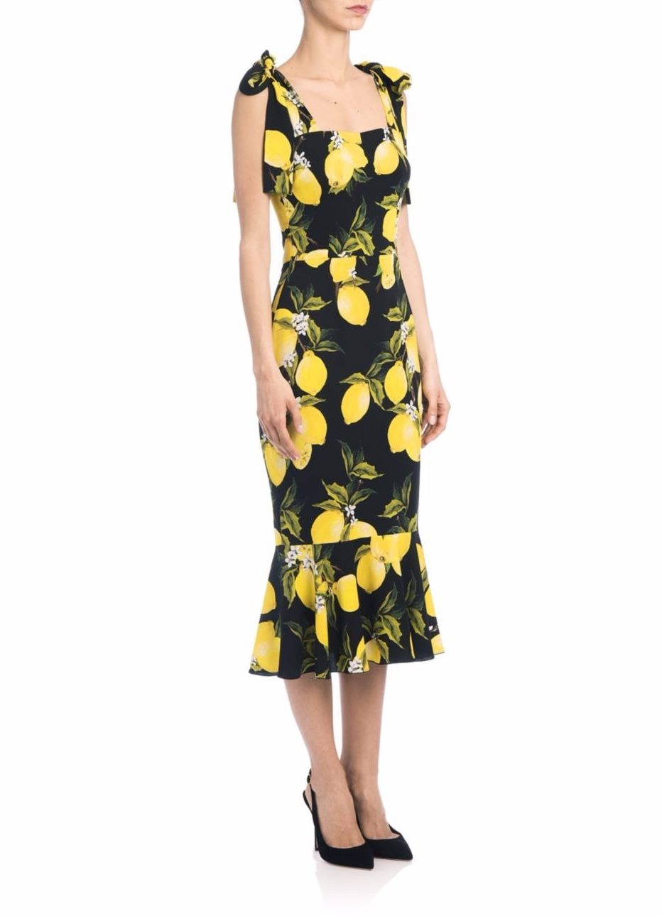 Платье с лимонами Дольче Габбана новые фото