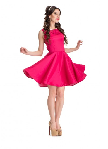 платье малиновое фото